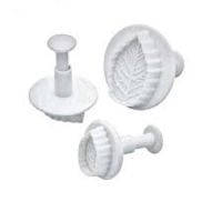 Mondo Rose Leaf Plunger cutter set of 3