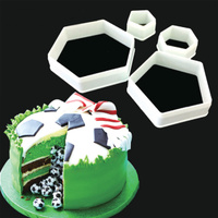 4 PIECE SOCCER BALL (HEXAGON/OCTOGON) CUTTER SET