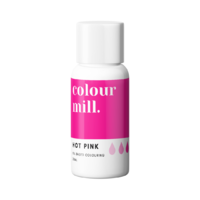 Hot Pink Oil Based Colouring 20ml by Colour Mill