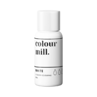 White Oil Based Colouring 20ml by Colour Mill