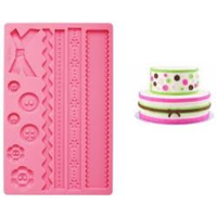 Wilton Fabric Designs Silicone Mould