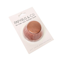 Standard ROSE GOLD Foil Baking Cups (50 pack)