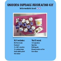 Unicorn Cupcakes Kit includes Cake Mix