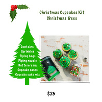 "Christmas Cupcakes Kit ""Christmas Trees"""