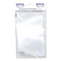Loyal Piping Bag Clear 10 pack size 12