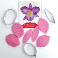 Cattleya Orchid Cutter & Veiner Set