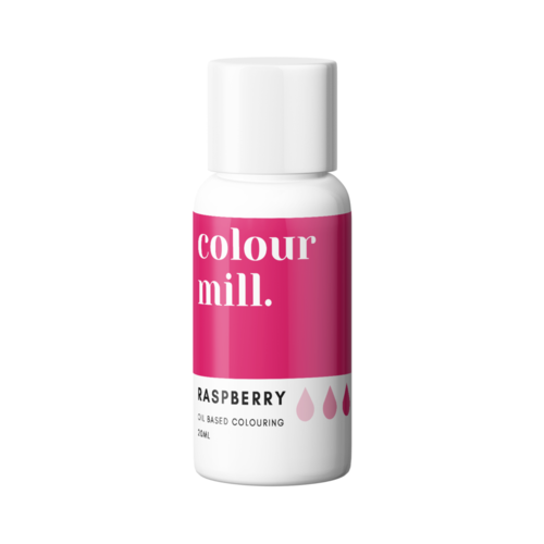 Raspberry Oil Based Colouring 20ml by Colour Mill