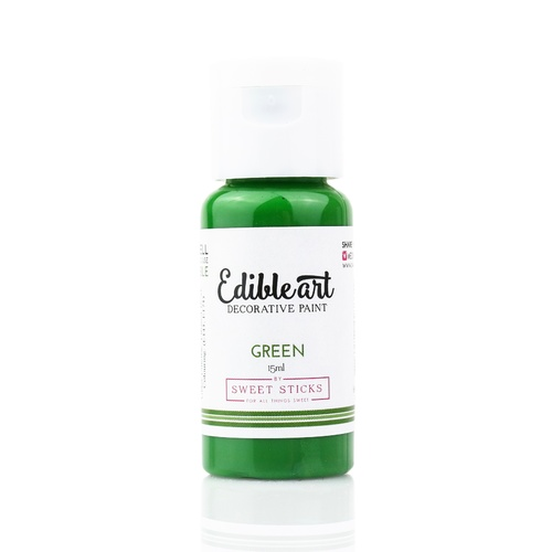 Sweet Sticks Edible Paint- GREEN 15ml